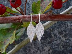 Nature inspired silver woodland leaf drop earrings. These beautiful and unusual handmade silver earrings, would make an ideal ladies birthday present or Christmas gift. Mad... #trending #etsy #hmuk #styl