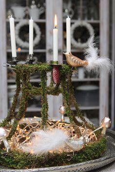 Jul dekoration mossa pynt pyssel lampskärm