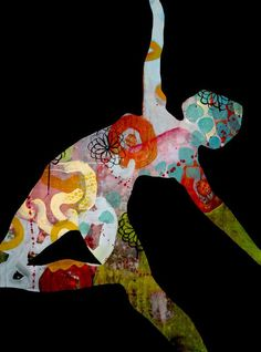 map art In Motion, by Shari Weschler Rubeck. Figure Painting, Painting & Drawing, Soul Collage, Map Collage, Dragons, Gelli Arts, Ap Studio Art, Soul Art, Illustrations