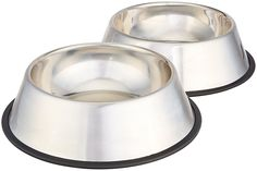 Hypoallergenic stainless steel bowls are great for dogs with sensitive skin! Features: Set of 2 stainless-steel food bowls for pupp Dry Dog Food, Cat Food, Dog Grooming Supplies, Pet Supplies, Pitbull Rednose, Best Dog Food Brands, Stainless Steel Dog Bowls, Les Croquettes, Pet Food Storage