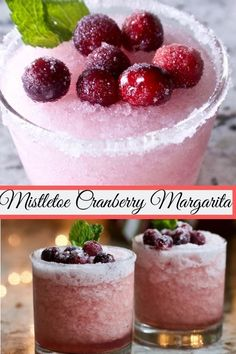 These delicious Mistletoe Cranberry Margaritas are just the thing to spice up any party or girls night! Theses mixed drinks are very easy to decorate. They are adorable and taste amazing. #cranberrylimemargaritas #cranberrymargaritas #holidaydrinks #marga