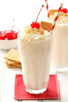 Whip up these easy to make Cheesecake Milkshakes with only 4 ingredients (plus garnishes) and celebrate the people who inspire you the most