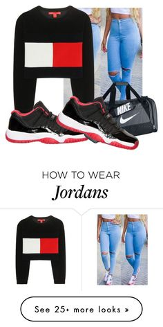 """1"" by baddielowkey on Polyvore featuring Tommy Hilfiger, Retrò and NIKE"