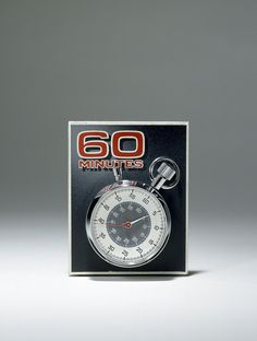 """September 24, 1968: """"60 Minutes"""" debuts on CBS. It becomes the most-watched news program in American history. This watch was used on the show until the 1990s, when it was replaced by a computer graphic."""