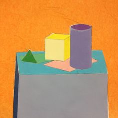 Perspektivskiss med färgglada bitar.