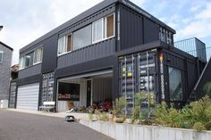Container House - Container House - Amazing container home design. Who Else Wants Simple Step-By-Step Plans To Design And Build A Container Home From Scratch? Who Else Wants Simple Step-By-Step Plans To Design And Build A Container Home From Scratch? Container Shop, Storage Container Homes, Building A Container Home, Container Cabin, Cargo Container, Container House Plans, Container House Design, Container Prices, Shipping Container Buildings