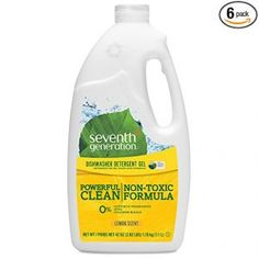 Shop for Clean Living Household Essentials. Buy products such as Seventh Generation Dishwasher Detergent Packs Fragrance Free 20 count at Walmart and save. Best Dishwasher Detergent, Dishwasher Parts, Dish Detergent, Safe Cleaning Products, Cleaning Supplies, 6 Pack, Household Cleaners, Hard Water, Biodegradable Products