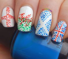 EuRoPe: United Kingdom - Flag Nail Art (England, Wales, Scotland, Norther Ireland) @ ilmiobeautycase