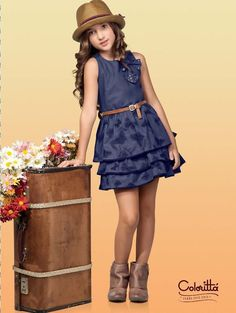 Such a cute outfit! Tween Fashion, Little Girl Fashion, Outfits Niños, Kids Outfits, Little Girl Dresses, Girls Dresses, Elegantes Outfit, Kind Mode, Kids Wear