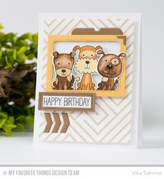 Four-Legged Friends Stamp Set and Die-namics, Diagonal Design Background, Blueprints 32 Die-namics - Vika Salmina  #mftstamps