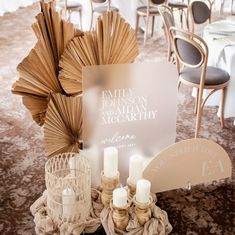 modern rustic and boho chic mixed theme acrylic wedding signs