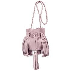 Sara Battaglia Jasmine Soft Blush Leather Cross-body Bag ($360) ❤ liked on Polyvore featuring bags, handbags, shoulder bags, crossbody shoulder bags, leather handbags, fringe crossbody, leather crossbody purse and shoulder strap bag