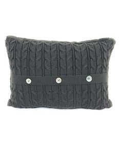 This Graphite Cable Knit Throw Pillow is perfect! #zulilyfinds
