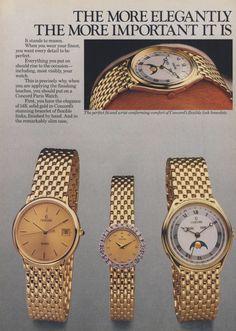 Concord Paris watch.  Vogue magazine - October 1986