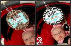 Baby Germie Stopper No Touch Stroller or Car Seat Sign. $6.99, via Etsy.