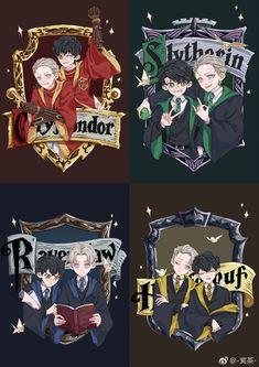 Hufflepuff looks like YOI Hogwarts AU Arte Do Harry Potter, Harry Potter Comics, Harry Potter Artwork, Harry Potter Draco Malfoy, Harry Potter Pictures, Harry Potter Drawings, Harry Potter Ships, Harry Potter Wallpaper, Harry Potter Characters