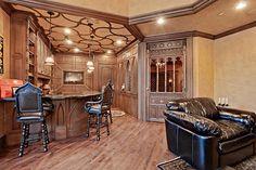Bar in a Tudor mansion, Dallas area