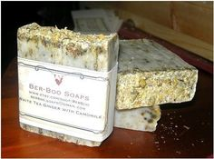 White Tea and Ginger Cold Process Soap with real by BerBooSoaps, $4.50