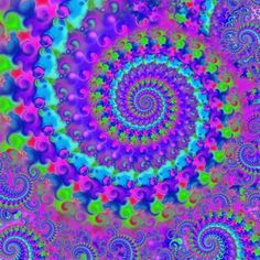 "Saatchi Art Artist Pixie Copley LRPS; Drawing, ""Purple Hippie Fractal Art"" #art"