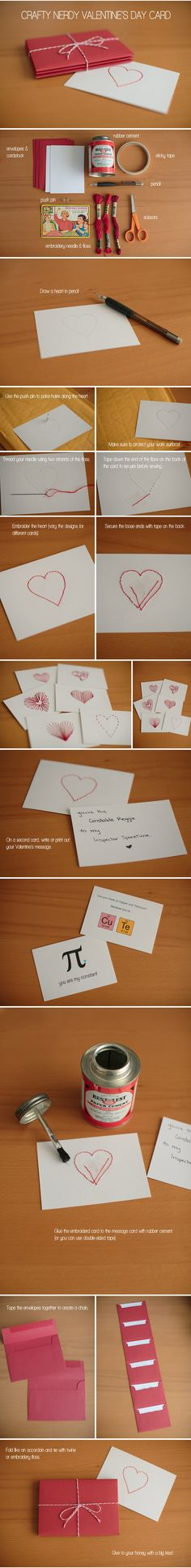 Crafty nerdy Valentines Day card tutorial