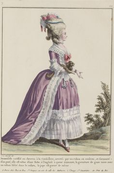 Robe a l'Anglaise, 1780's