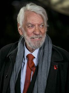 Happy birthday, Donald Sutherland! The 'Hunger Games' baddie…