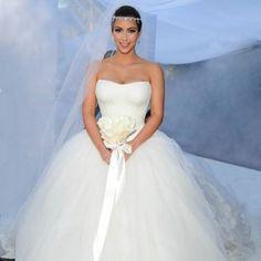 Vestido de noiva de Kim com Kris