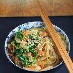 Ginger scallion soy noodles