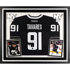 John Tavares New York Islanders Fanatics Authentic Deluxe Framed Autographed Black and White Alternate Reebok Premier Jersey - Frameworth