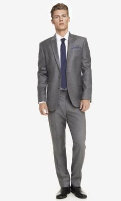 GRAY FLANNEL SUIT JACKET from EXPRESS