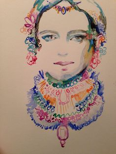 Watercolor fashion illustration by artist Stefanie Papay