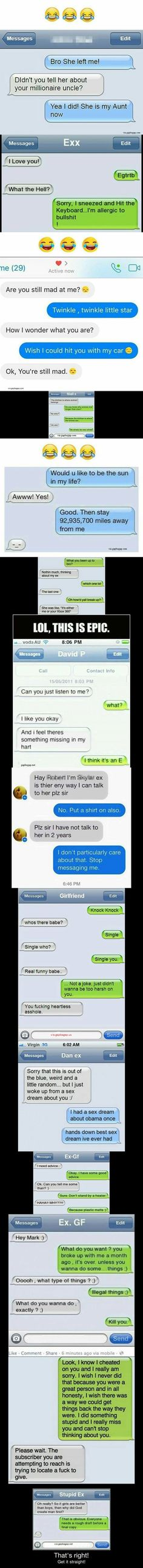 Top 15 #Funny Text Messages By Exes