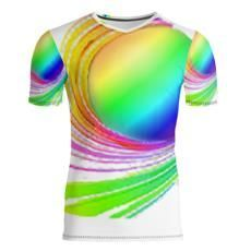 Slim Fit Mens T-Shirt,swirls of neon colors,vibrant,unique and colorful.Perfect gift for the trendy modern man