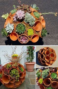 Simple Art and your Garden can look amazing. Garden globes will help your garden keep the good look all year long. You will Love this Calm and Cool DIY Garden Globes. Make Your Garden More Attractive! Read More. Garden Crafts, Diy Garden Decor, Garden Projects, Outdoor Projects, Fall Projects, Pots D'argile, Clay Pots, Succulent Pots, Planting Succulents