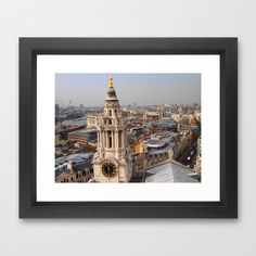 View from St. Paul's Cathedral - London Framed Art Print by Kristy Bohnet - $31.00