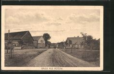 AK Rützow, Kreis Schivelbein, Straßenpartie zum Ort