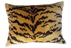 Scalamandré    Tiger Velvet Pillow