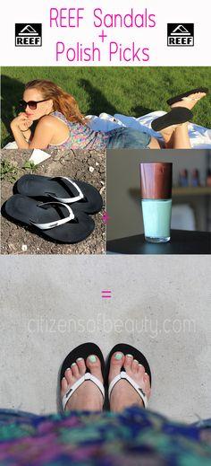 Sandals and Pretty Polish Picks #Toes #nailpolish #reef #sandals via @citizensofbeauty