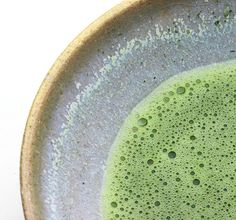Japanese green tea - Matcha 抹茶.  This is one of our myriad flavours of blended drinks!  Delicious and Refreshing!     Just ask for the Blended Green Tea Matcha!