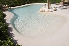 32 awesome natural small pools design ideas best for private backyard 21 Beach Entry Pool, Backyard Beach, Small Backyard Pools, Backyard Pool Designs, Small Pools, Swimming Pools Backyard, Ponds Backyard, Swimming Pool Designs, Pool Landscaping