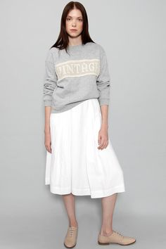 The @CARLEENnyc x Ethica sweatshirt, made in the U.S.A. using #vintage materials.