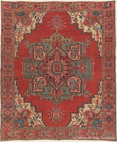 "SERAPI, Northwest Persian Antique 8' 11"" x 11' 1"" — Circa 1900 Rug - Claremont Rug Company Click to learn more about this rug."