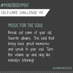 I do this a lot, sing like nobody's listening.  ;) #mindbodymat @robinlong