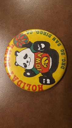 1986 Holiday Bowl Button - 1