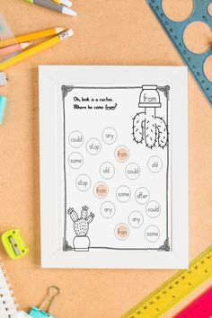 Find your sight word worksheet. A fun activity with a great design for your students. I hope you will enjoy this! Sight Word Practice, Sight Words, Elementary Teacher, Upper Elementary, Kindergarten Activities, Fun Activities, Sight Word Worksheets, Language And Literature, Writing Resources