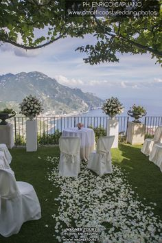 Villa Eva Ravello Wedding In Flowers Decoration And Romantic Setting Overlooking The Amalfi Coast For Your By Wagner Tours