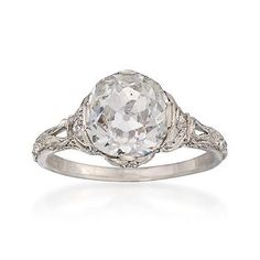 a 1910 engagement ring......vintage has so much more character than the new stuff