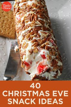 40 Christmas Eve Snack Ideas - Holiday Recipes: Menus, Desserts, Party Ideas from Food Network . Holiday Snacks, Christmas Party Food, Christmas Dishes, Xmas Food, Christmas Appetizers, Christmas Sweets, Christmas Cooking, Holiday Recipes, Christmas Recipes
