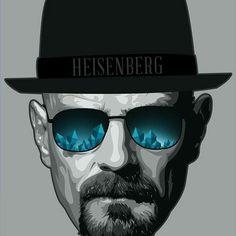 Breaking Bad Fan Art / Heisenberg by Ciaran Monaghan, via Behance Breaking Bad Poster, Breaking Bad Tattoo, Breaking Bad Arte, Breaking Bad Series, Walter White, Beaking Bad, Bad Fan Art, Jesse Pinkman, Bryan Cranston