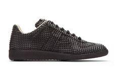 Maison Martin Margiela Black Studded Low-Top Replica Sneakers